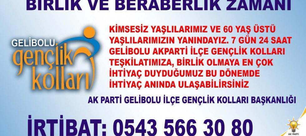 AK Parti Gençlik Kollarından Duyuru
