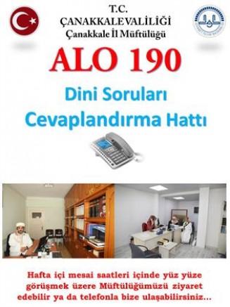 Alo 190 Dini Danışma Hattı