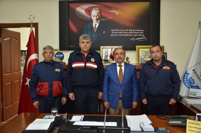 """BAŞKAN ÖZACAR'A  """"İTFAİYE HAFTASI"""" ZİYARETİ"""