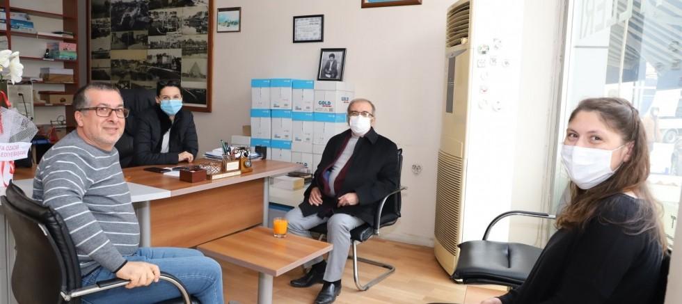 Başkan Özacar'dan Gazetemize Ziyaret