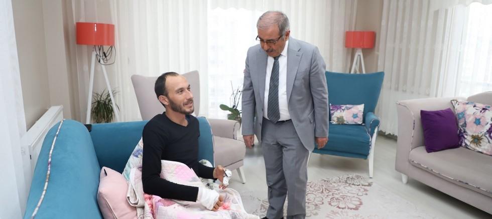 Başkan Özacar'dan İdlip Gazisine Ziyaret