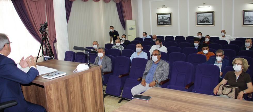 Başkan Özacar, Korona Virüsle Mücadele Sürecini Değerlendirdi