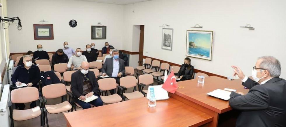Birim Amirleriyle Haftalık Değerlendirme Toplantısı Yaptıldı