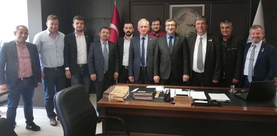 CHP İlçe Başkanlığından Ziyaretler