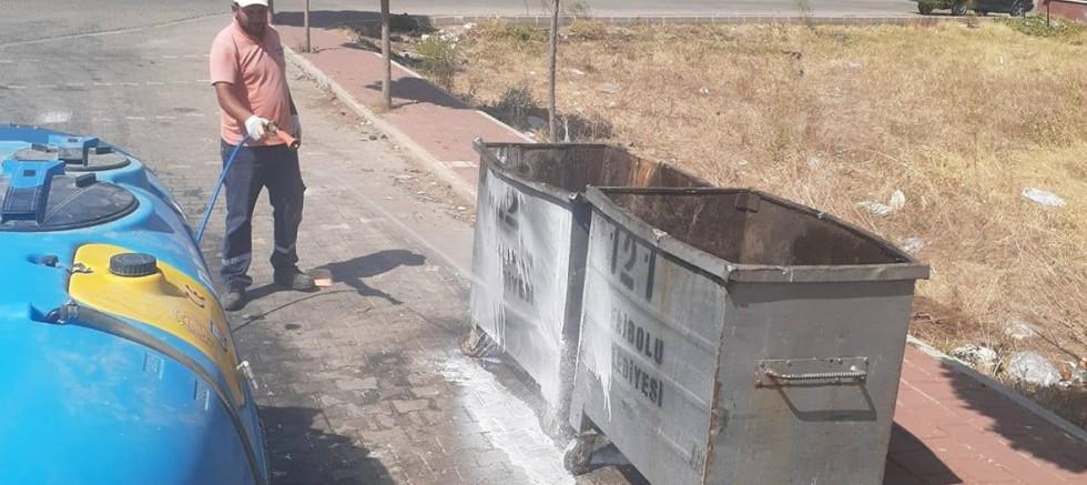 Çöp Konteynerleri Dezenfekte Ediliyor