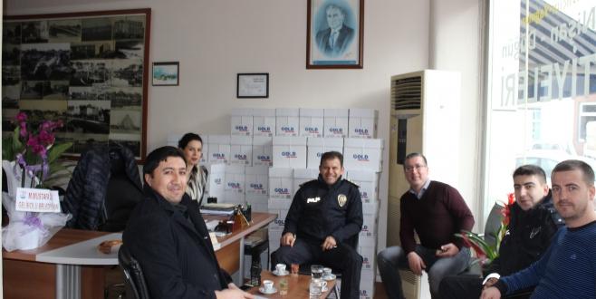 Gelibolu İlçe Emniyet Müdürü Şafak Özkan'ın  Gazetemize Ziyareti