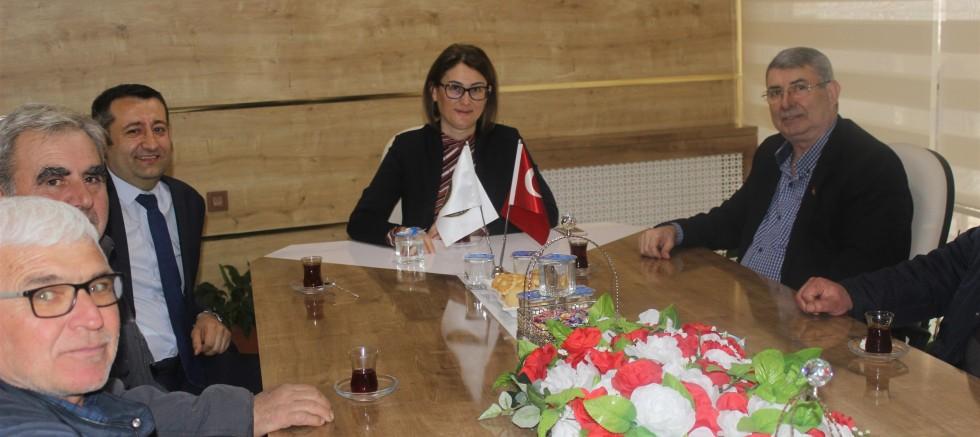 Halk Bankası Şube Müdürü Ergül'den Selvi'ye Ziyaret