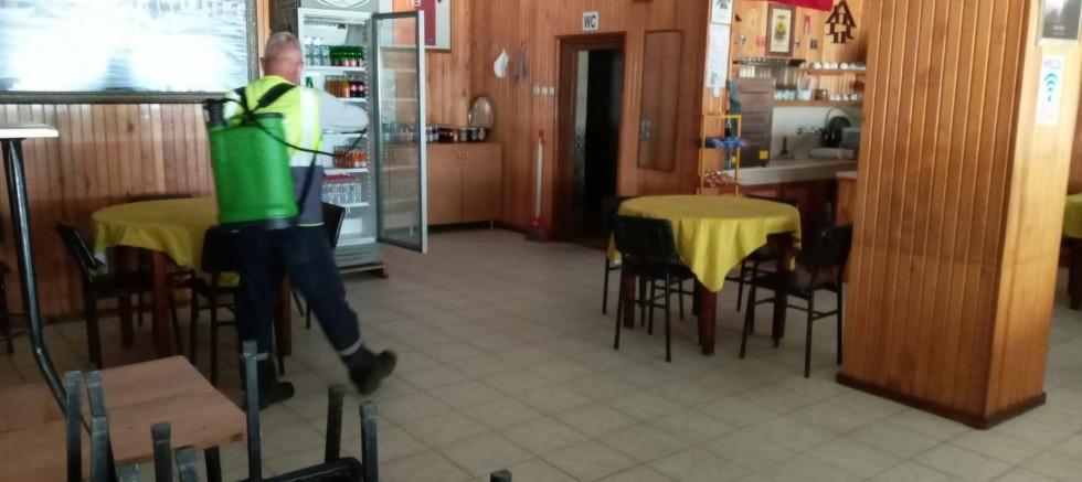 Kahvehaneler Dezenfekte Edildi