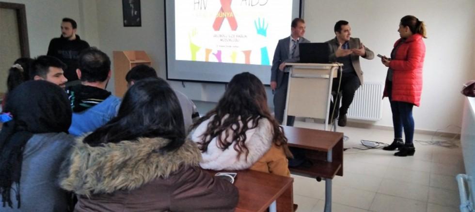 MYO'da AIDS Bilgilendirme Semineri Verildi