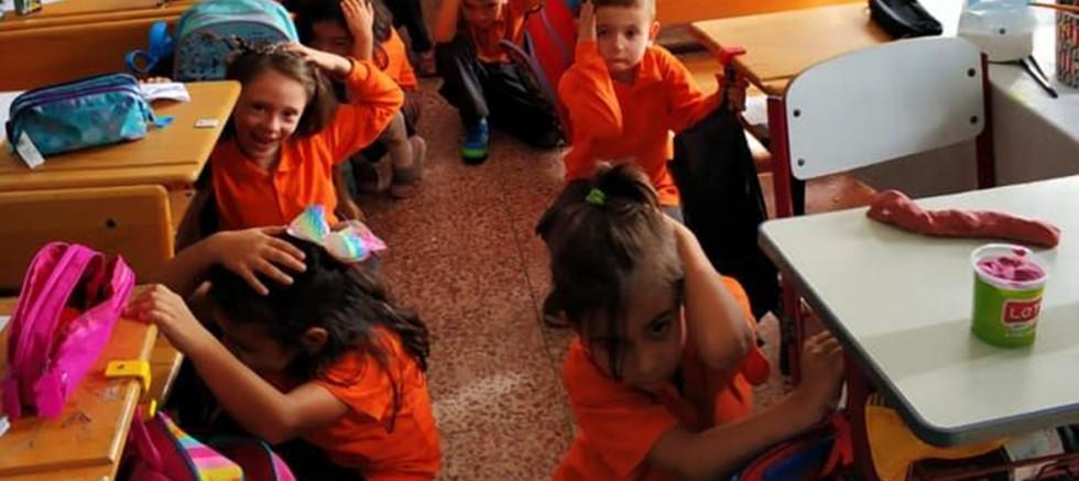Okullarda Deprem, Tahliye Tatbikatı