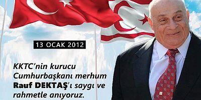 Başkan Özacar'dan Denktaş'ı Anma Mesajı