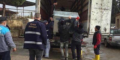 Evreşe Belediyesi'ne Çöp Konteynerleri Hibe Edildi