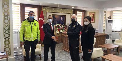 İlçe Emniyet Müdüründen Polis Haftası Ziyareti