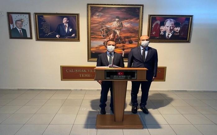 Vali Aktaş'tan Kaymakam Abacı'ya Hayırlı Olsun Ziyareti